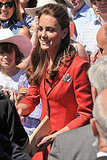 Kate Middleton wore a special maple leaf brooch.