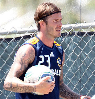 David Beckham Practices With the LA Galaxy