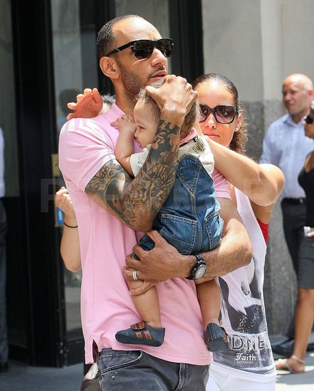 Alicia Keys and Swizz Beatz Bring Baby Egypt Out in NYC