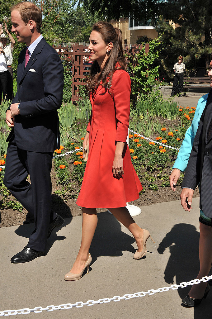 Prince William and Kate Middleton visited the Calgary zoo.