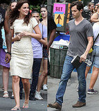 Penn Badgley and Leighton Meester Reunite on the Gossip Girl Set