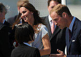 Kate and Will are greeted arriving at LAX.