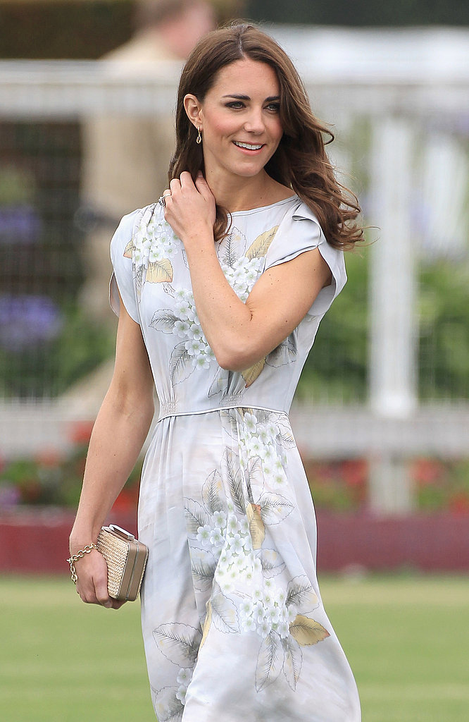 Kate Middleton flashed a smile as she arrived.