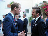 Prince William talks to David Beckham in LA.