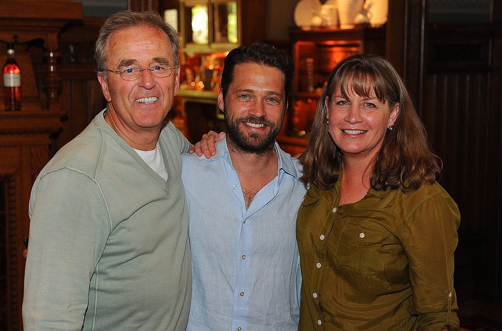 Jason Priestley and winemaker Laurie Hook in Napa.