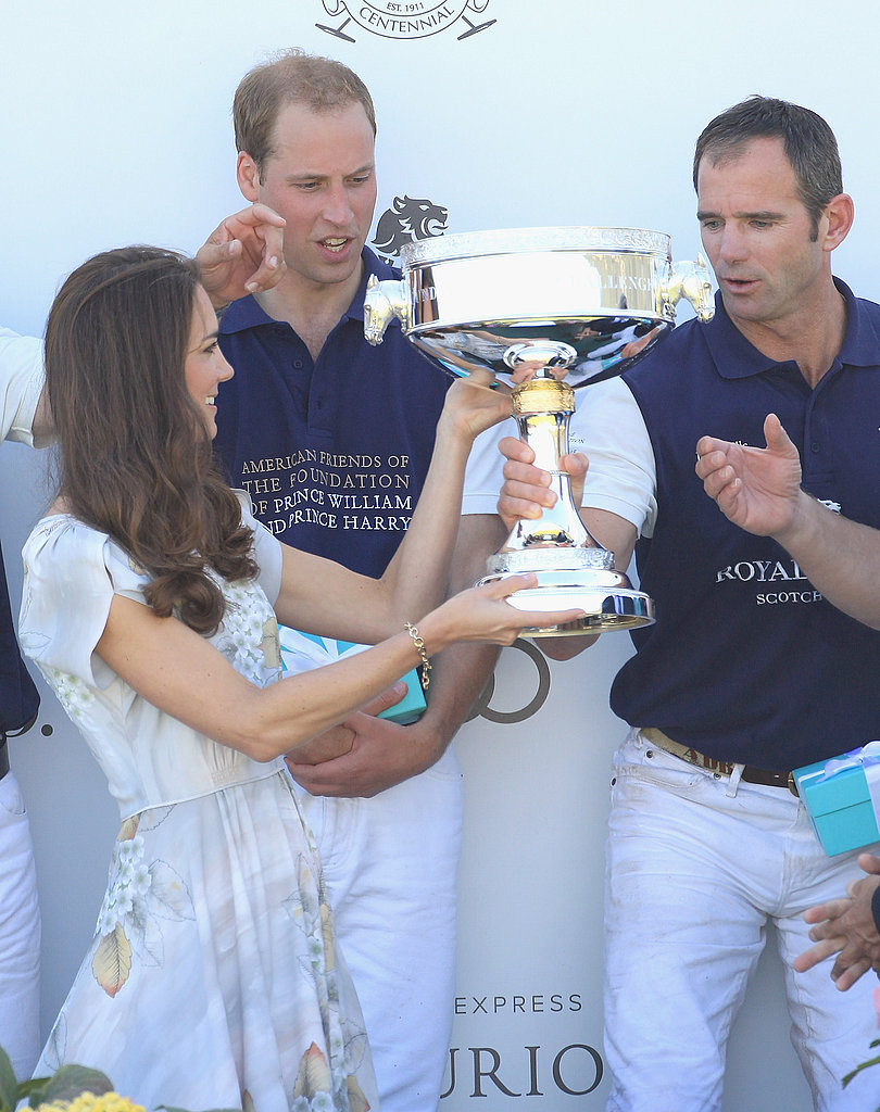Kate Middleton and Prince William at polo fields in Santa Barbara.