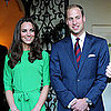 Kate Middleton in Diane Von Furstenberg With William and David Beckham