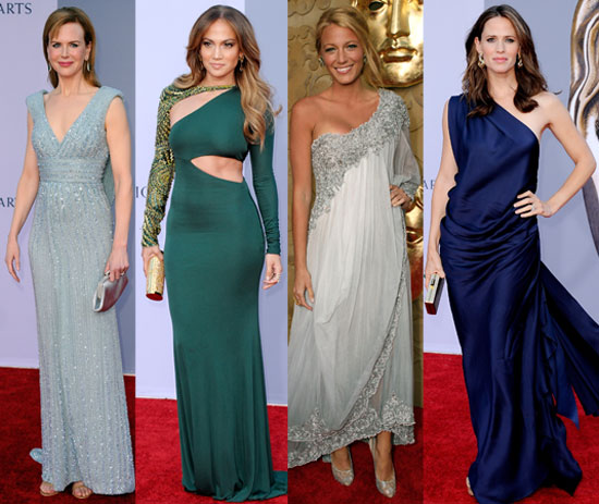 Blake, Jennifer, J Lo, Nicole, and More Get Glamorous With Kate and Will at the BAFTA Brits to Watch Event