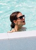 Katie Holmes swims in Miami.