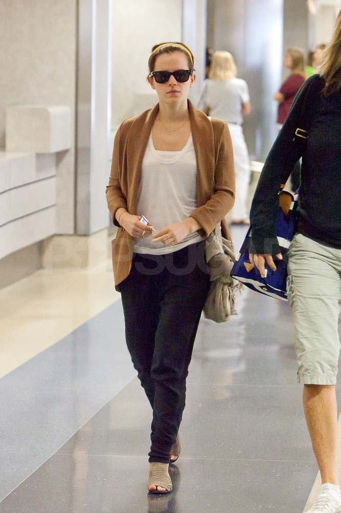 Emma Watson lands at LAX.