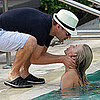 Ryan Seacrest and Julianne Hough Kissing at Pool in Miami
