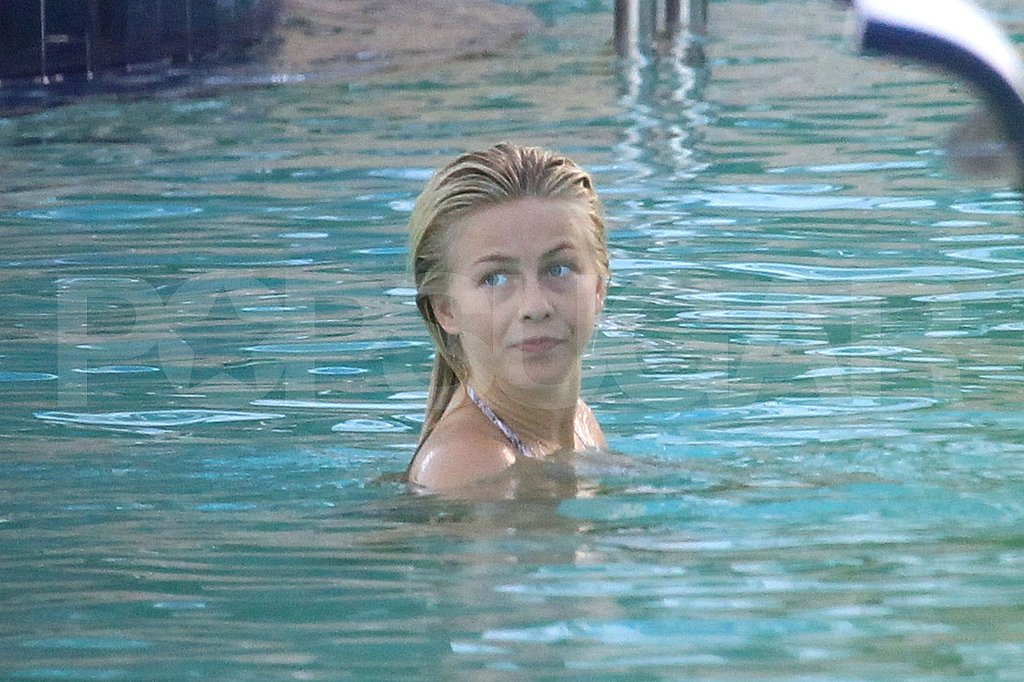 Julianne Hough takes a swim.