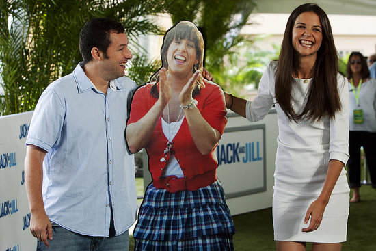 Katie Holmes and Adam Sandler Share a Laugh During a Press Day in Mexico