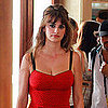 Pictures of Penelope Cruz in Red Lingerie Shooting Bop Decameron