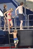 Gwyneth Paltrow in a bikini on a yacht with Moses.