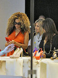 Beyoncé shoe shopping.