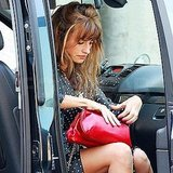 Penelope Cruz got a ride to the set.