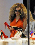 Beyoncé shoe shopping in London.