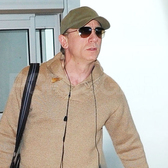 Daniel Craig leaving from JFK.