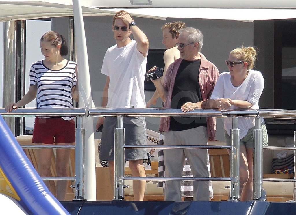 Gwyneth Paltrow  on a yacht with Steven Spielberg.