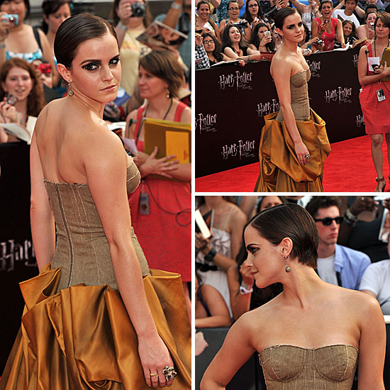 Emma Watson in Bottega Veneta on Harry Potter and the Deathly Hallows Part 2 New York Red Carpet