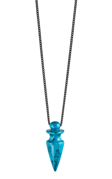 Gemstone Small Spike Pendant, $240