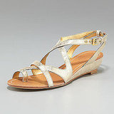 Kate Spade Velora Metallic Low Wedge, $225