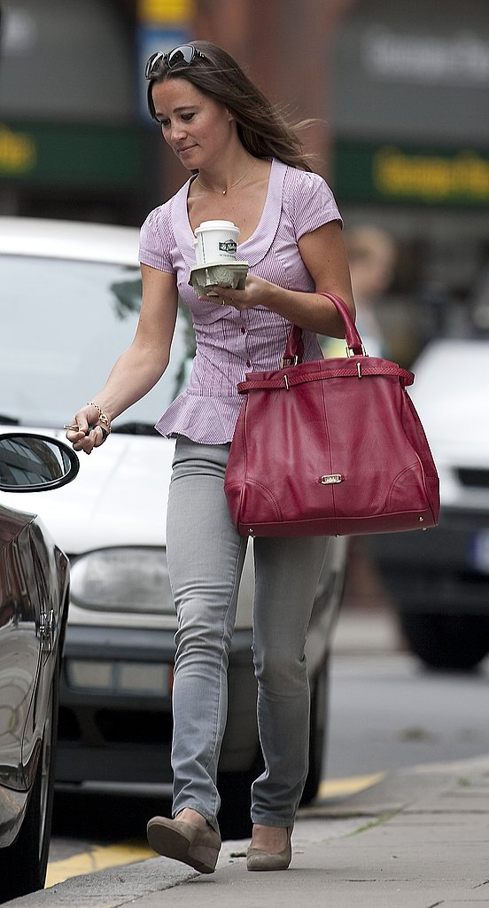 Pippa Middleton works after a weekend with Alex Loudon.