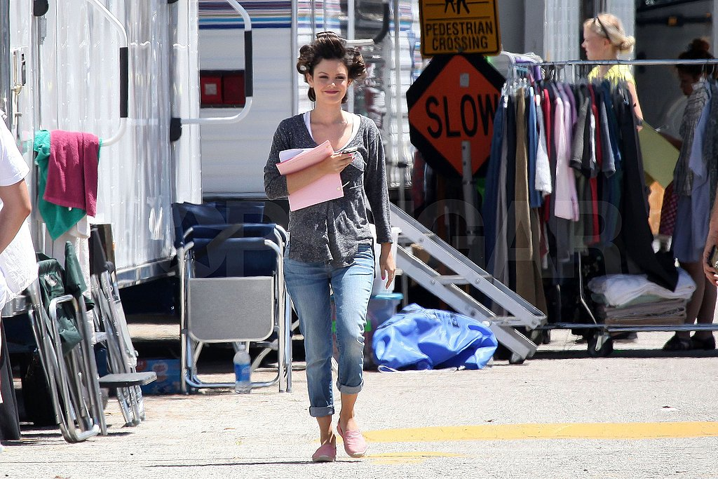 Rachel Bilson carried her script in hand leaving the set.