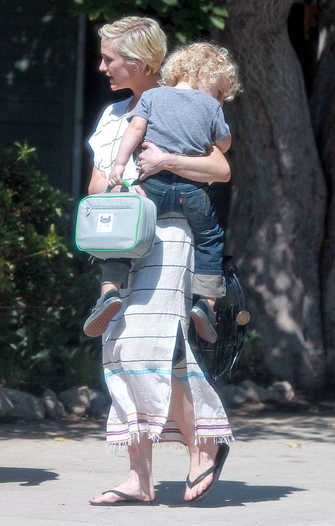 Ashlee Simpson and Bronx Wentz together in LA.