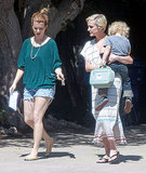 Ashlee Simpson carries son Bronx.