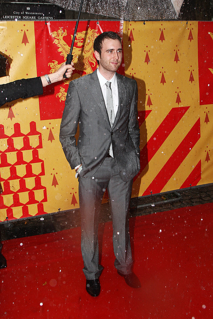 Rain or shine, Matthew Lewis still stuns. The actor walks the red carpet for Harry Potter and the Half-Blood Prince.