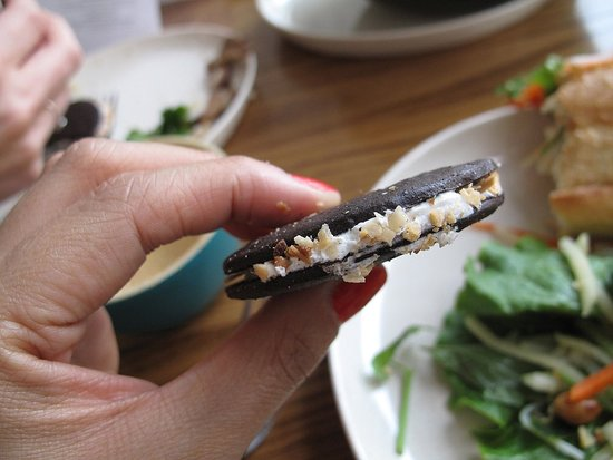 Coconut cookie sandwich