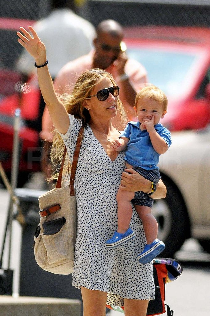 Sheryl Crow and Levi in NYC.