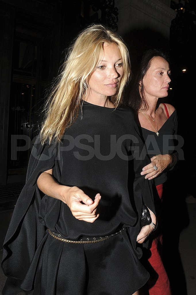 Kate Moss returns to London after her honeymoon.