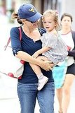 Jennifer Garner running errands with daughter Seraphina Affleck.