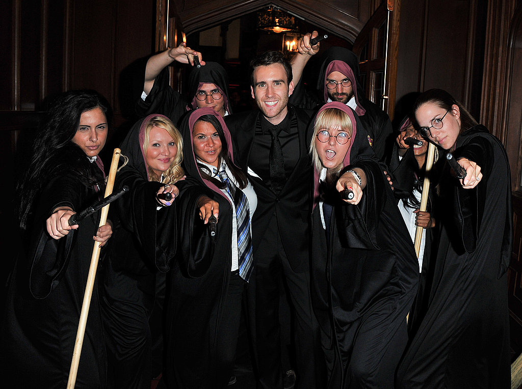 Matt Lewis poses with fans at the Canadian premiere of Harry Potter and the Deathly Hallows Part 2.
