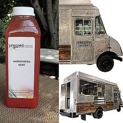 Pressed Juicery Truck at Malibu Lumber Yard