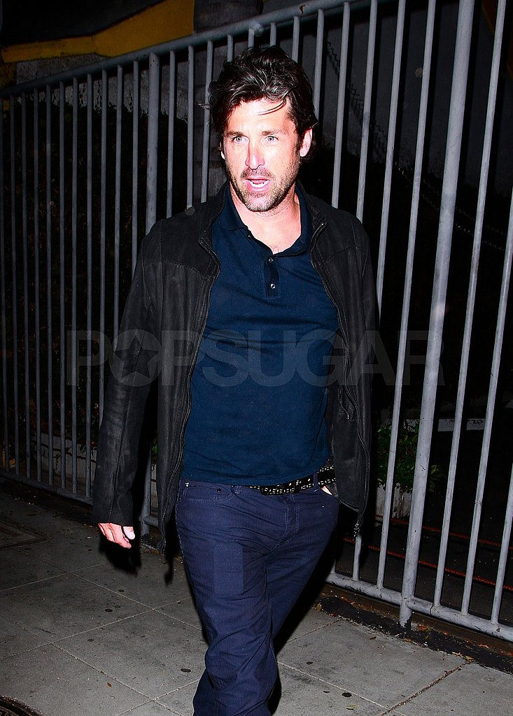Patrick Dempsey let his famous tresses fly freely in the wind.