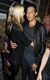Kate Moss and Jamie Hince show PDA.
