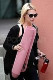 January Jones Hits the Yoga Studio Following Mad Men's Big Emmy Morning