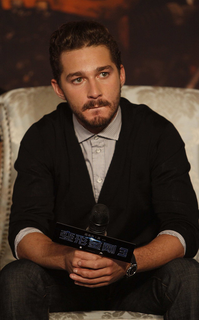 Shia LaBeouf in China for Transformers: Dark of the Moon.