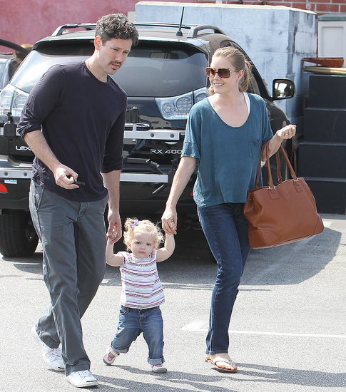 Amy Adams and Darren Le Gallo with Aviana.