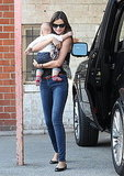 Flynn Bloom looked right at home in Miranda Kerr's arms.