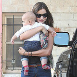 Miranda Kerr carried Flynn Bloom from the car.