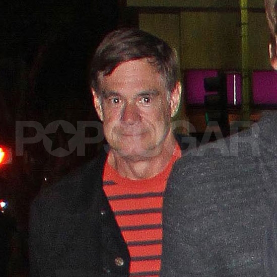 Gus Van Sant leaving dinner with Taylor Lautner.
