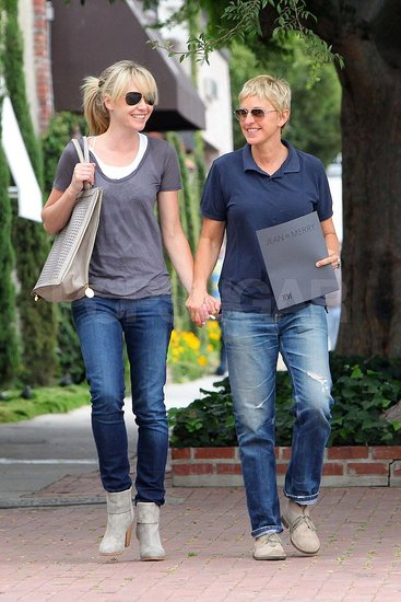 Ellen DeGeneres and Portia de Rossi Have a Sweet Hand-in-Hand Shopping Date