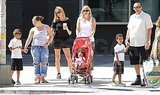 Heidi Klum had Leni Samuel, Johan Samuel, Henry Samuel, and Lou Samuel along for a day out in NYC.