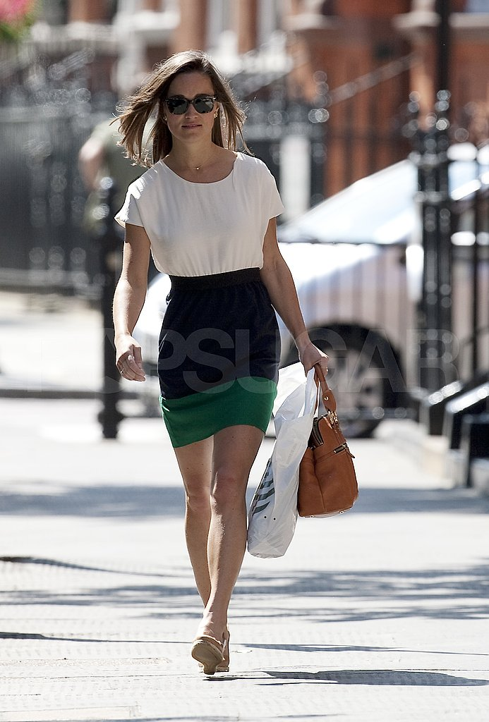 Pippa Middleton on her way to work.