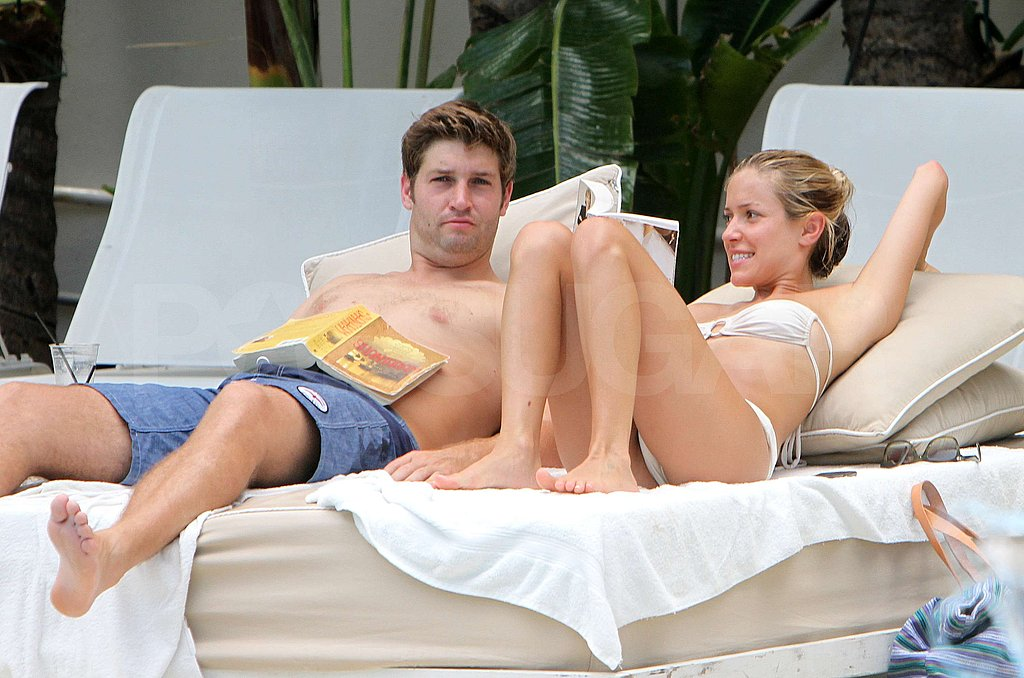 Kristin Cavallari and Jay Cutler enjoyed the heat.